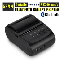 2Inch Standby Time 5 7 Days Android 4 2 2 Bluetooth Wireless Mobile 58mm Mini Thermal
