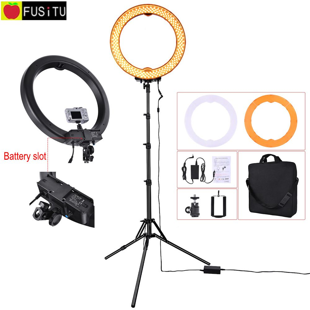 1855W 240 LED Ring Light Kit RL-18 Camera Photo/Studio/Phone/Video 5500K Photography Dimmable Ring Lamp with Tripod stand fotopal led ring light for camera photo studio phone video 1255w 5500k photography dimmable ring lamp with plastic tripod stand