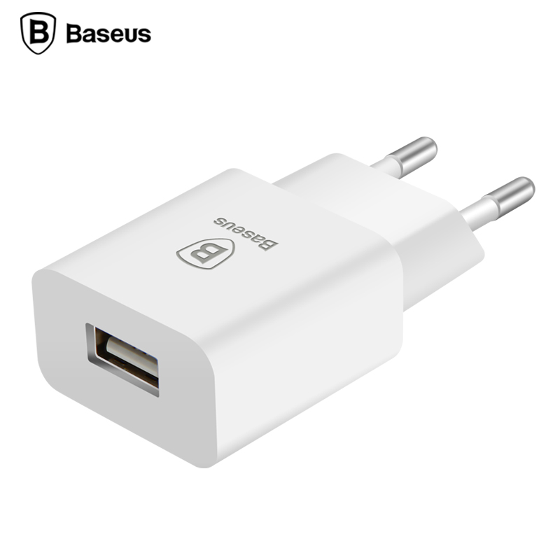 Baseus EU Plug 5V2A Travel USB Charger Fast Charging Adapter Wall Phone Charger For iPhone 6 6s Samsung s7 Note7 HTC Vive Tablet