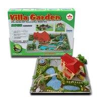 Garden Villa DIY Creative Building Model Kits Students Crafting Class Material Learn Garden Layout Design