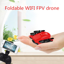 2.4G 6-Axis Gyroscope WIFI FPV Quadcopter drone with HD camera foldable rc drone toy Altitude Hold headless mode kid best gifts