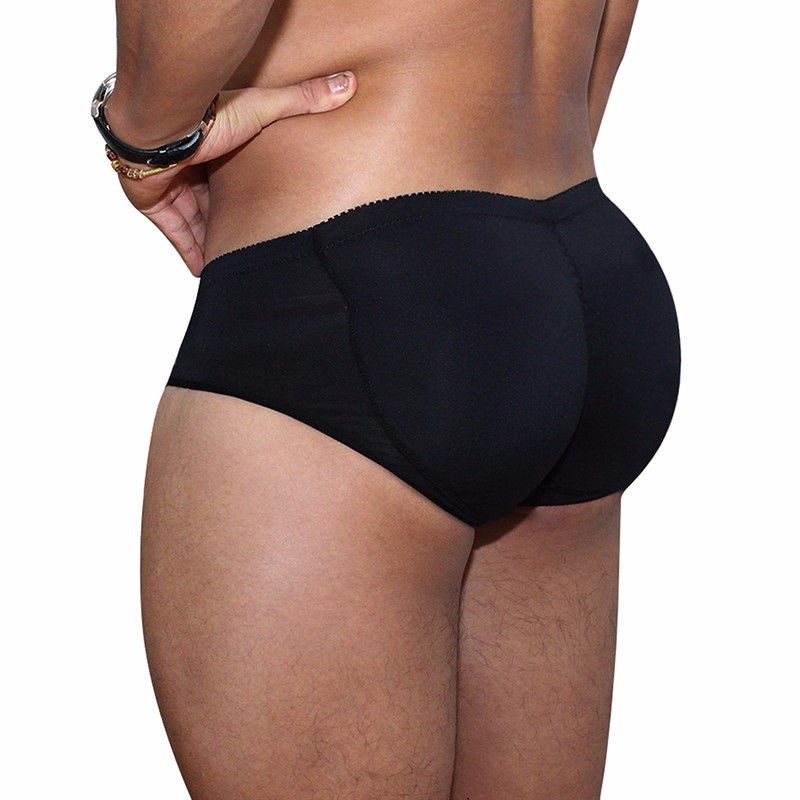 Men's Padded Underwear Lifting Butt Men's Underwear Panties Strengthening Sexy Highlights Front + Back Hips Removable Push Cup