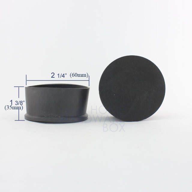 60mm soft rubber external end cover outdoor table chair leg round