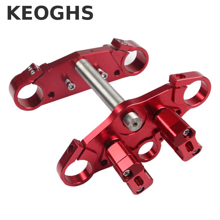 цена на Keoghs Motorcycle Cnc Triple Trees Front Shock Clamp 41/45mm For Honda Yamaha Kawasaki Suzuki Monkey Bike Motorbike Modify