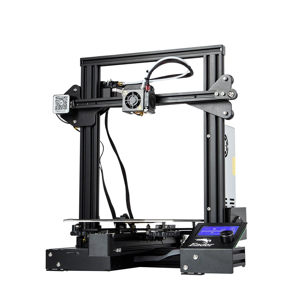 Creality Ender 3 Pro 3D DIY KIT de impresora actualizado Cmagnet placa de construcción reanudar falla de energía de MeanWell poder magnético suave - 4