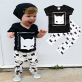 Batman Baby Boys Clothing Suits 2017 Summer Baby Outfits Cotton Short Sleeve Baby Clothes Sets Retail CC355-CGR3