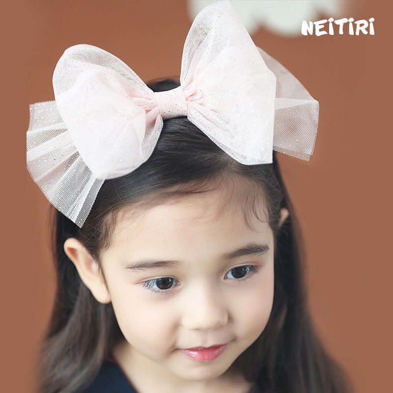 Korea Lace Hair Accessories lovely  Big Bow Butterfly Hairband Flower Crown  Headband Hair Band Hair Bow Princess 4 metting joura bohemian vintage black blue chiffon flower big double bow wide headband hairband hair accessories