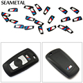 2Pcs For BMW E60 E70 E71 E83 E84 E90 F22 F23 F10 F11 F25 F26 F30 F32 F34 F48 Car Key Shell Stickers Auto Accessories Car-styling