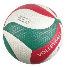 Летний Пляжный волейбол из искусственной кожи, размер 5, Волейбольный мяч,, с сетчатой сумкой+ иглой