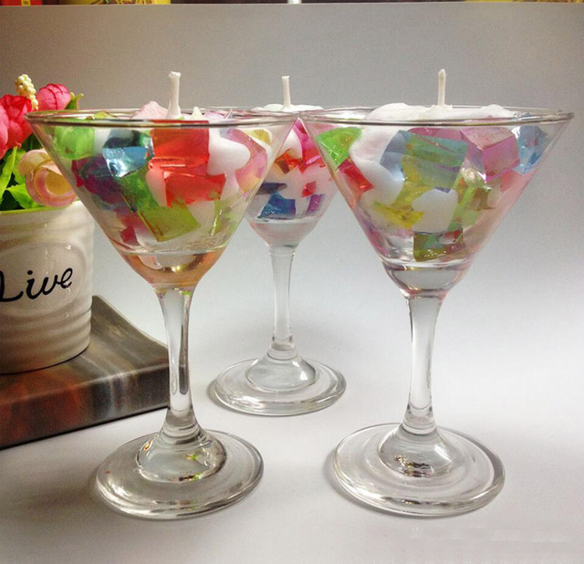 6 Stucke Bunte Gelee Obst Sala Kerze Mit Glas Tasse Fur Birthday