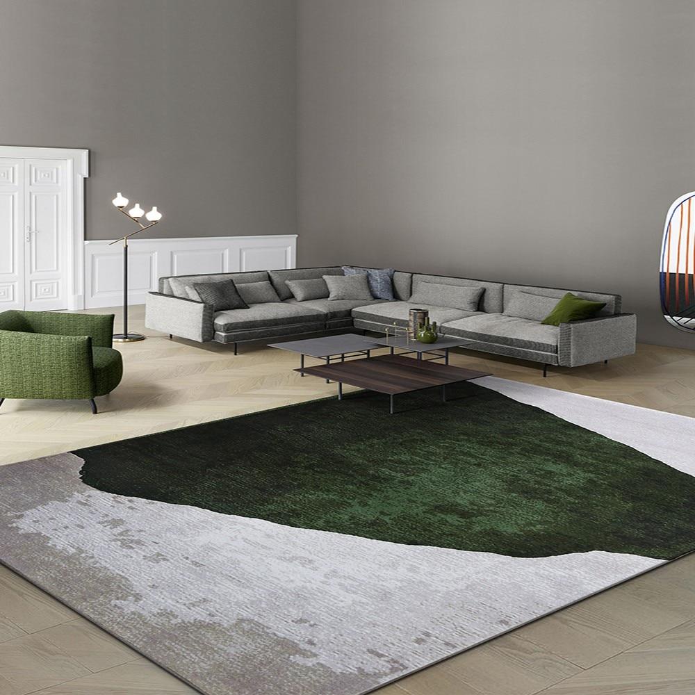 Nordic style  art living room rug,  big size Post modern pattern home decoration machine weaved bedside carpet