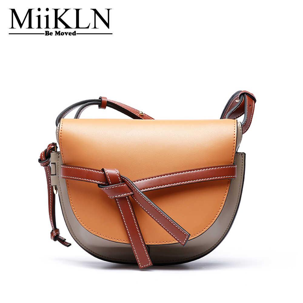 MiiKLN Women Small Shoulder Bags Cow Leather Fashion Design Women Crossbody  Purse Solide 7b602b887f91