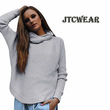 e9eaf1d59bace JTCWEAR High Neck Woman Long Sleeve Sweater Autumn New Lady Turtle Neck  Jumpers Solid Color Ribbed Knitted High Low Sweater 539