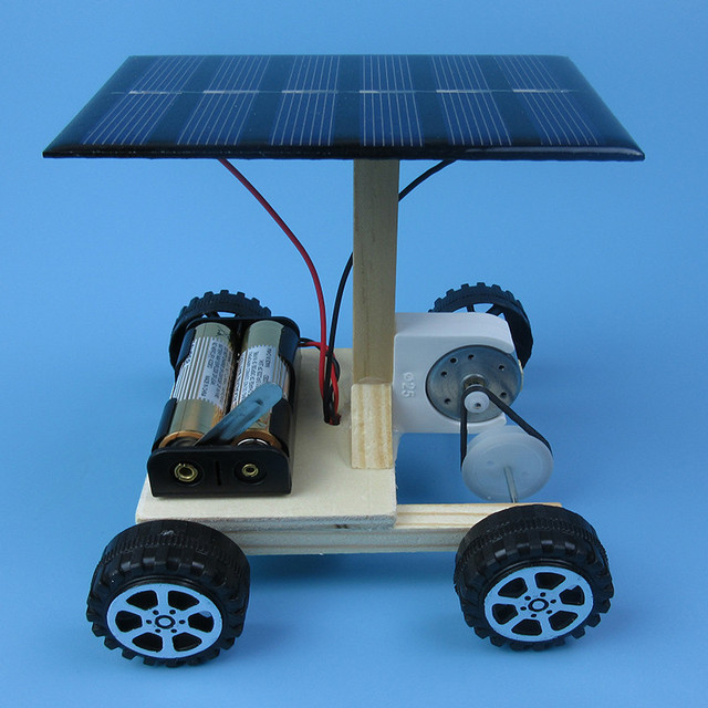 DIY Hand Assembling solar electrical energy generation  combination driven vehicle car Physics technology gizmo