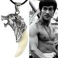 2015 venta caliente de moda brave hombre lobo diente collar dominante colgante de acero titanium de la joyería 567r