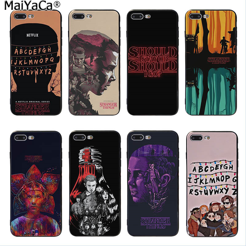 MaiYaCa should <font><b>Stranger</b></font> <font><b>Things</b></font> Ultra Thin Cartoon Pattern <font><b>Phone</b></font> <font><b>Case</b></font> For <font><b>iPhone</b></font> 5 5s SE 6 6plus 7 7Plus 8 8plus X XS <font><b>XR</b></font> XSMax image