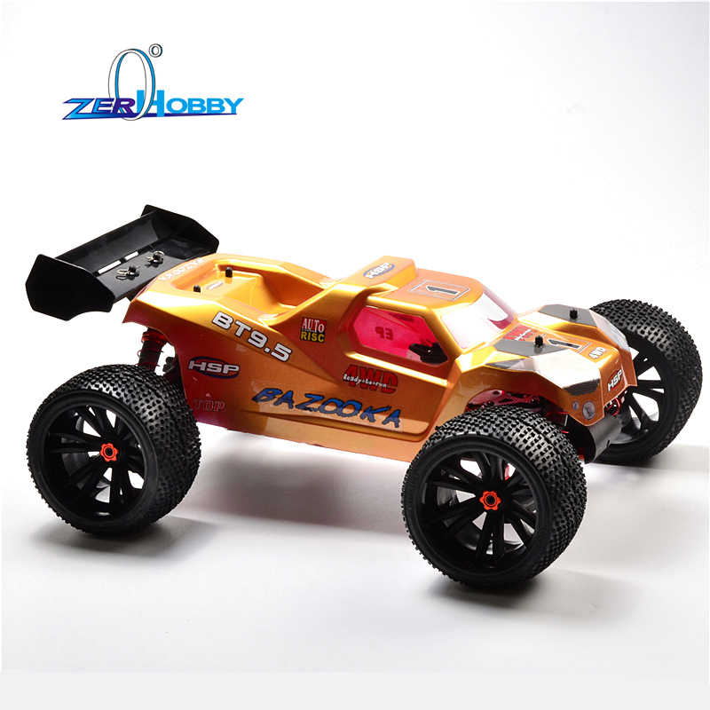 HSP RACING RC CAR PROFESSIONAL BAZOOKA 94085GTE9 1/8 4X4 OFF ROAD ELECTRIC TRUGGY CAR KIT WITHOUT RADIO MOTOR ESC BATTERY SERVO hsp racing rc car hsp advance 1 8 electric brushless 4x4 off road rtr truggy battery not included item no 94061