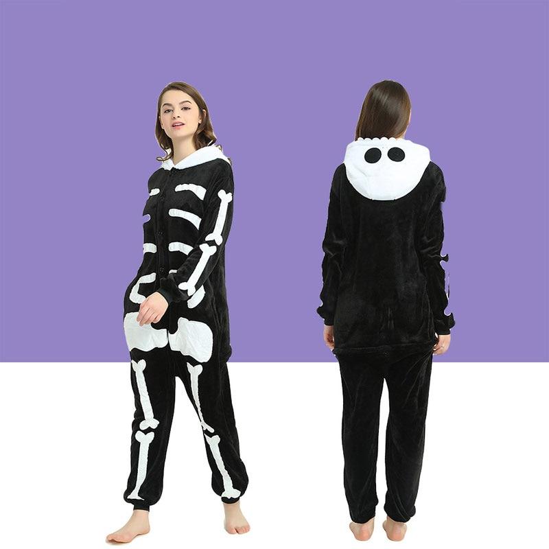Pajamas Set Flannel Women Nightie Cute Animal men and women Winter Homewear winter Sleepwear pajamas for 2019