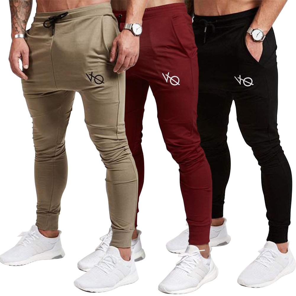Men's Joggers Sweatpants Active Sports Running Workout Pant Casual Pants Pantalon Hombre Elastic Waist band