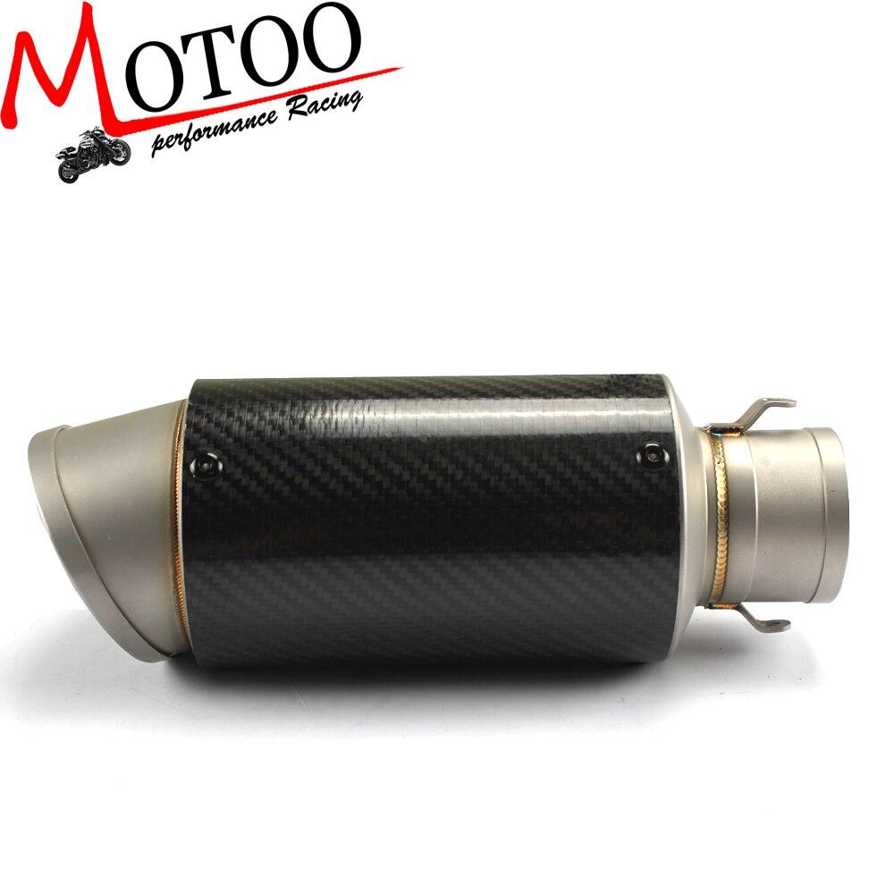 Motoo Universal Motorcycle Full Carbon Fiber MUFFLER SLIP
