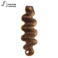 Joedir Pre colored Brazilian Remy Human Hair Weave 113g/pc Body Wave Color P4/30 P4/27 P1B/30 Piano Color Free Shipping
