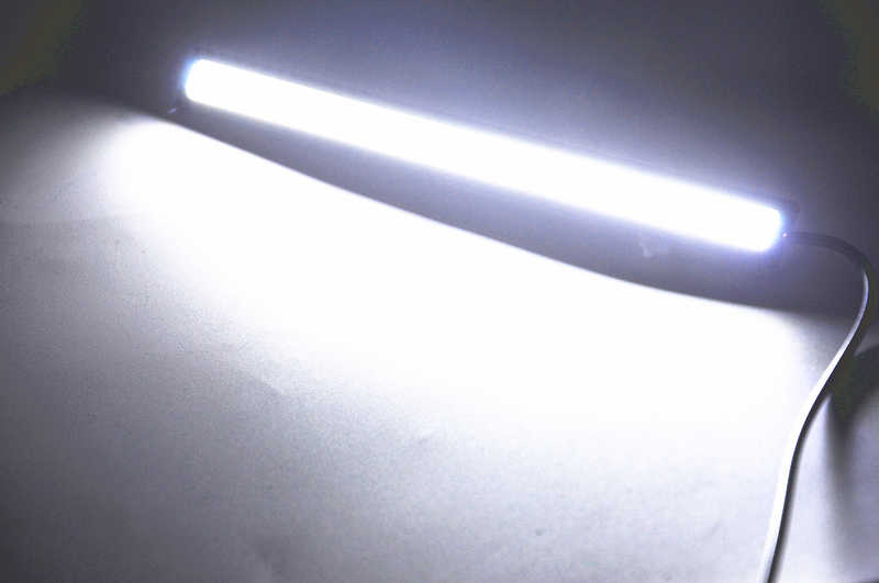 17CM Car LED COB DRL Daytime Running Light Waterproof DC12V External Led Car Light Source Parking Fog Bar Lamp White Blue