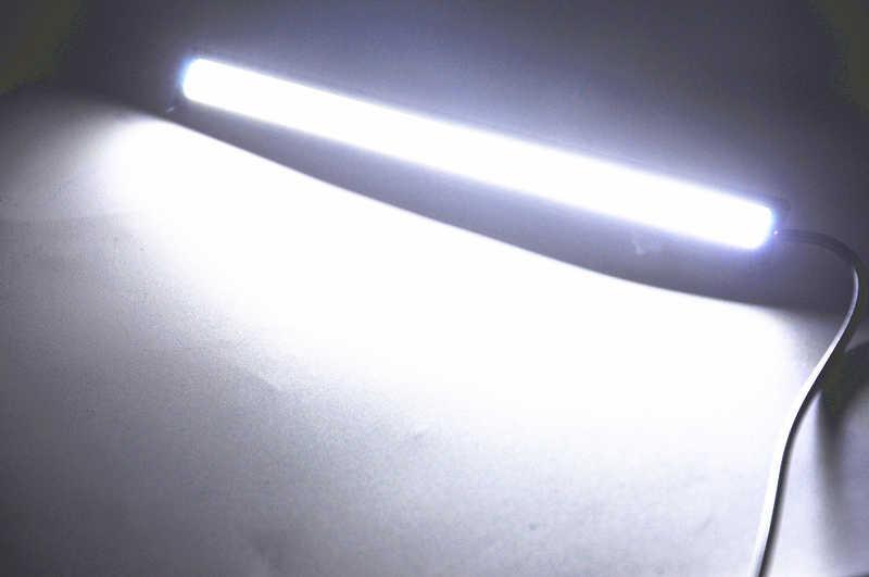 2x 17CM Car LED COB DRL Daytime Running Light Waterproof DC12V External Led Car Light Source Parking Fog Bar Lamp White Blue