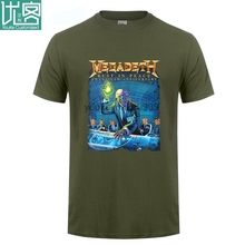 лучшая цена Megadeth Rust In Peace 20th Anniv Tour Black T Shirt SMALL New Official NOS Sleeve Tee Shirt Homme T-shirt Top Tees (2)