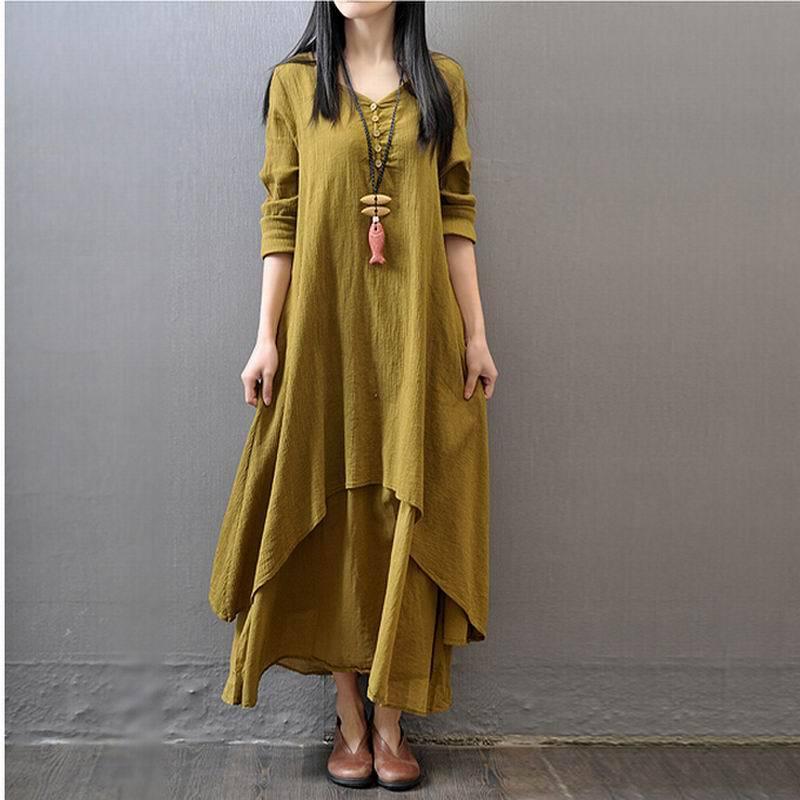 Popular Linen Maxi Dress-Buy Cheap Linen Maxi Dress lots from ...