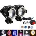 2 x High Power U7 Angel Devil Eye Light 125W Motorcycle LED Fog Spot light + 1pc switch as gift for U7 Light
