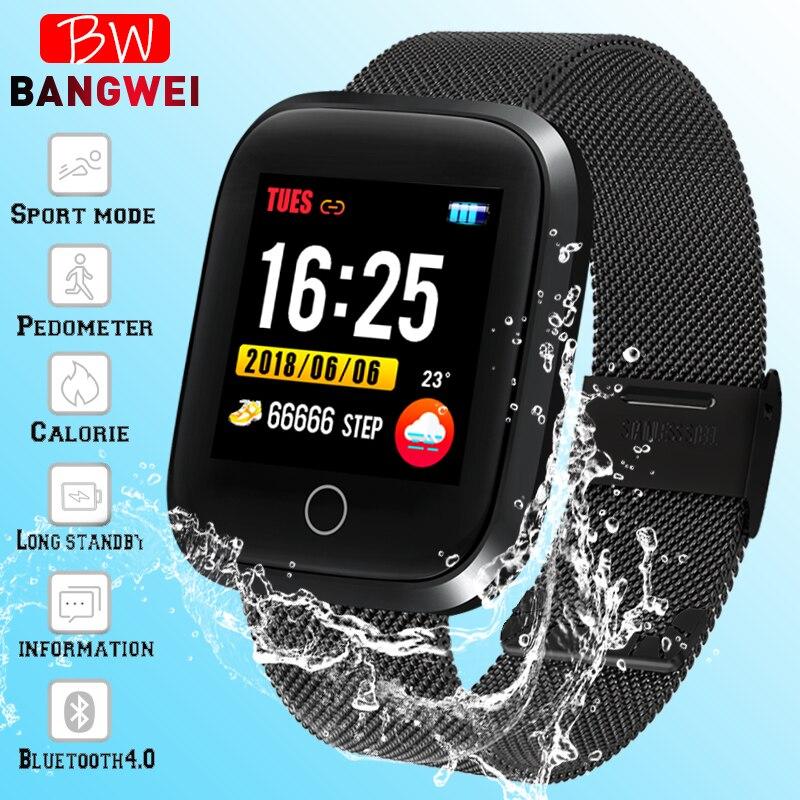 LIGE Relógio Das Mulheres Dos Homens de Fitness Rastreador Inteligente da Frequência Cardíaca Monitor de Pressão Arterial Multi-esporte relógio Inteligente pulseira Inteligente À Prova D' Água