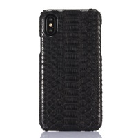 Solque Luxury 3D Python Skin Leather Phone Case For IPhone X Snake Skin Hard Cover For