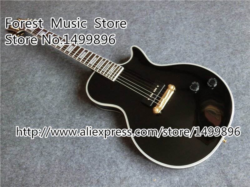 China LP Custom Electric Guitars Single P-90 Style LP Guitar Left Handed Available high quality vintage green lp custom model electric china guitar with gold hardware left handed available