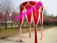 2M Diameter 3M Height Red+Pink Princess Pavilion curtain Wedding props wedding supplies(without the stand)