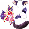 Anime Props! No Game No Life Cosplay Hatsuse Izuna Fox COS Ears Headwear + Cat/Fox Tail Cosplay Accessories on free shipping
