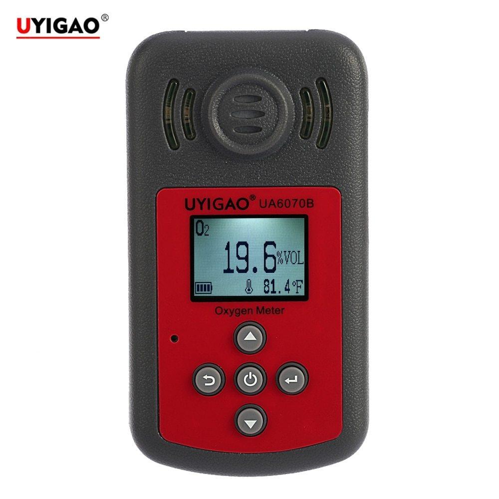 Détecteur d'oxygène Portable automobile Mini compteur d'oxygène O2 testeur de gaz moniteur analyseur de gaz avec affichage LCD alarme sonore et lumineuse