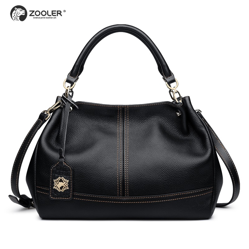 High quality genuine leather bags women ZOOLER luxury leather handbags women bags soft cow shoulder bag
