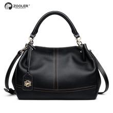 ZOOLER quality genuine leather bag luxury top handle handbags women bags pillow shoulder bag bolsa feminina#8160 цена