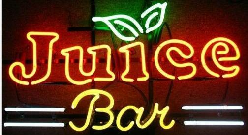 Custom Smoothies Juice Bar Glass Neon Light Sign Beer Bar