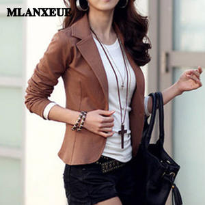 6abc02f9f53 slim autumn full sleeves Women Blazer And Jackets Plus Size