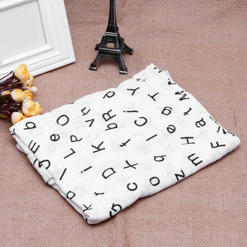 Cute Soft Muslin Cotton Baby Bathing Towel Cartoon Newborn infant Swaddling Blankets Multifunctional Baby Wrap swaddle