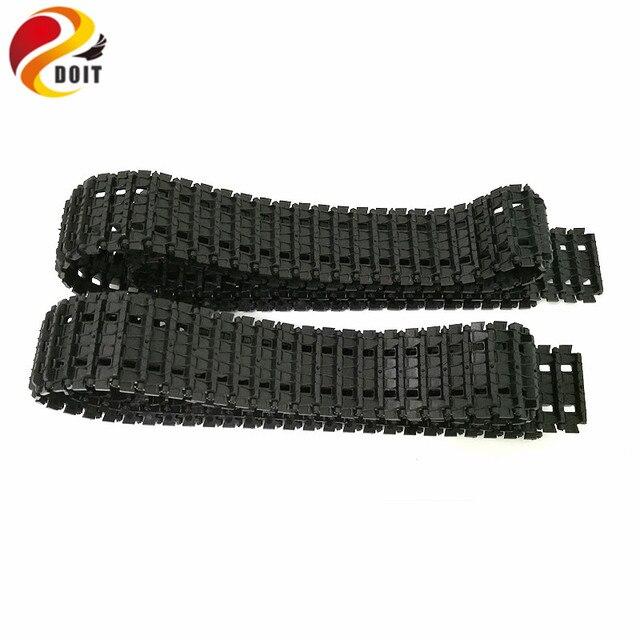 DOIT Shock Absorpber Tracks Plastic Caterpillar Crawler Chain Conveyor Belt for Robot Tank Chassis Engineering Plastic Tracks