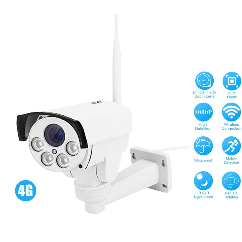 OwlCat HD 960 P 1080 P 4G carte SIM caméra IP Wifi extérieur balle PTZ 5X Zoom sans fil Hotspot AP caméra de sécurité de mouvement Max 128G