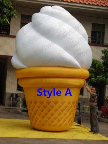 DC08  Hot !!! 13' 4m Inflatable Ice Cream Balloon Advertising Promotion + Repair Kits + Blower +4 Style Factory price