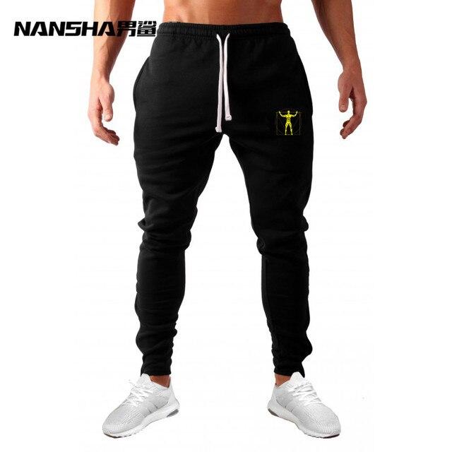 2017 Joggers Sweatpants Pleated Simple Men Pants Feet Gyms Trousers Man Cotton Harem Cozy Casual
