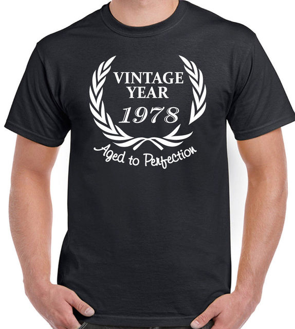 2018 Fashion Hot Sale Wreath 1978 Mens Funny 40th Birthday T Shirt 40 Year Old Gift Present Tee