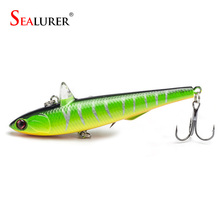 SEALURER 14.5g 9cm Winter Fishing Hard Bait VIB With Lead Inside Ice Sea Fishing Tackle Diving Swivel Jig Pencil Wobbler Lure