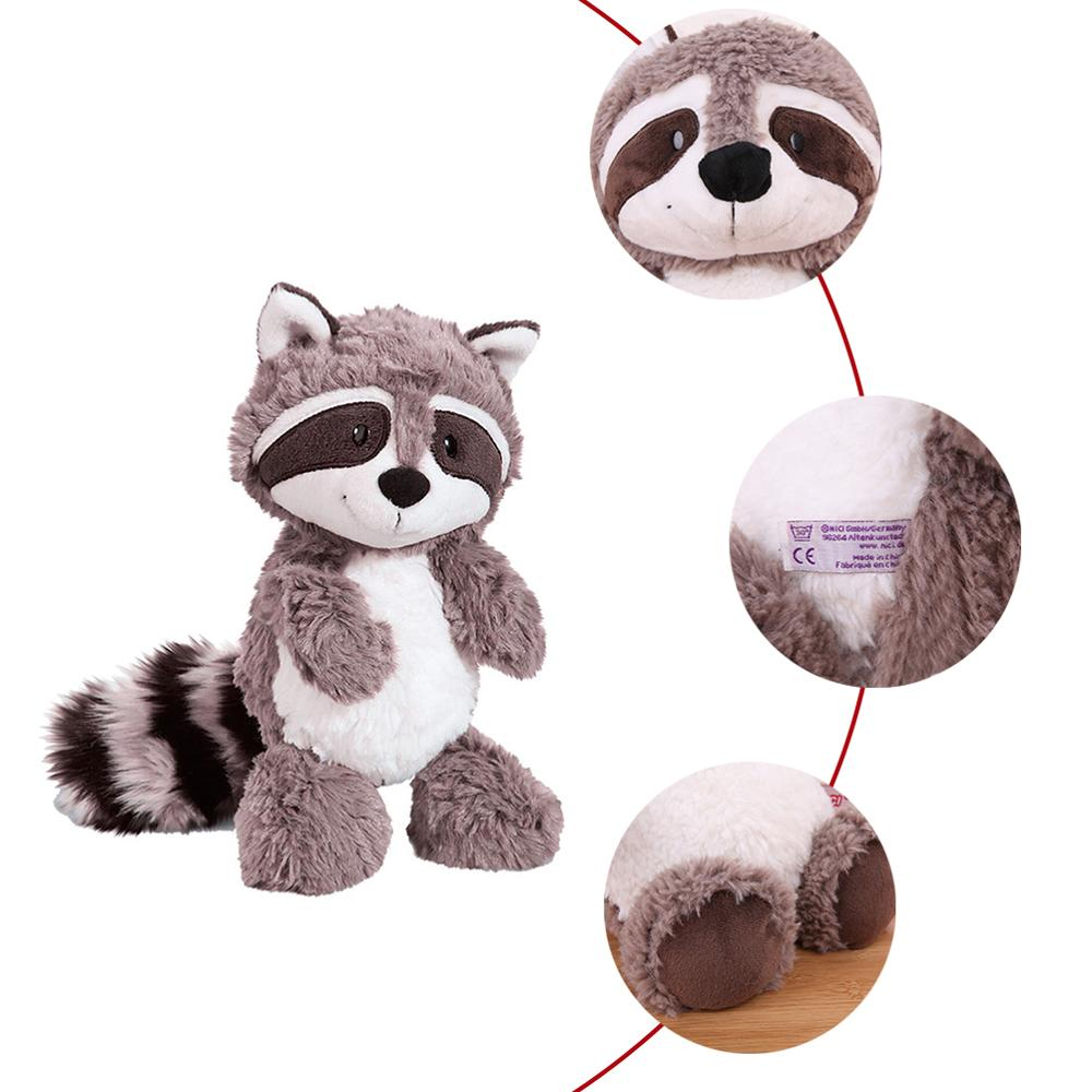 Image 2 - 25cm 35cm 55cm Gray Raccoon Plush Toy Lovely Cute Soft Stuffed Animals Doll Pillow For Girls Children Kids Baby Birthday Gift-in Stuffed & Plush Animals from Toys & Hobbies