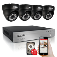 8Channel DVR Recording Home Security System 4PCS 960H 800 Tvl IR Outdoor Surveillance CCTV Waterproof Camera