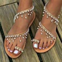 a1cef84e2d4 Summer Women Sandals Comfortable Beach Shoes Gladiator Rome Shoes String Beads  Flip Flops Ladies Slides Sandalia Feminina 2019
